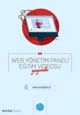 Web Yönetim Paneli Eğitim Videoları Yayınlandı